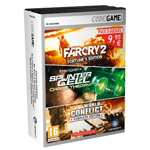 Pack Far Cry 2 + Splinter Cell Chaos + World in Conflict