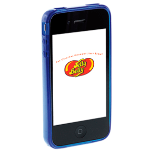 Carcasa Jelly Belly iPhone 3GS Blueberry azul