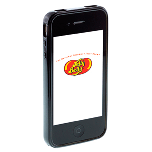 Carcasa Jelly Belly iPhone 3GS Liquorice negro