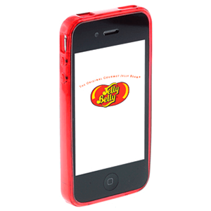 Carcasa Jelly Belly iPhone 3GS Very Cherry rojo