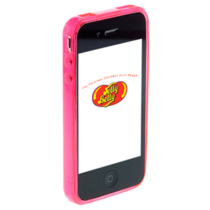 Carcasa Jelly Belly iPhone 4 Bubblegum rosa