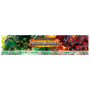 Pack 6+1 Figuras Combate Giants:Insectos Mutantes