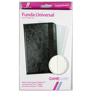 "Funda Universal Blanca-Negra Tablet 7"" GAMEware"