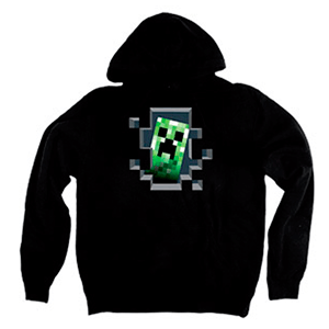"Sudadera Minecraft ""Creeper Inside"" Talla L"