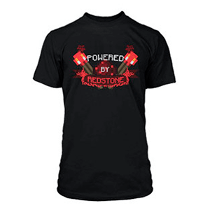 "Camiseta Minecraft ""Powered by Redstone"" Talla S"
