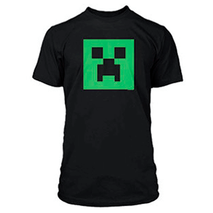 "Camiseta Minecraft ""Creeper Glow in Dark"" Talla S"