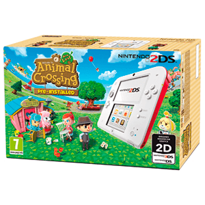 Nintendo 2DS Roja + Animal Crossing (Preinstalado)