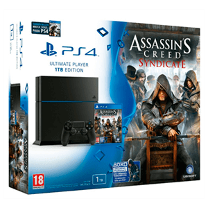 Playstation 4 1Tb + Assassins Creed Syndicate + Watch Dogs