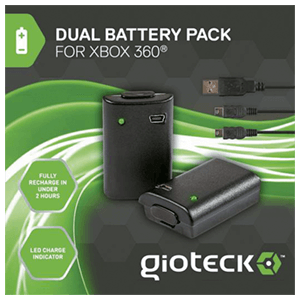 Dual Battery Pack Gioteck para X360