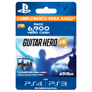 Guitar Hero Live 6900 Hero Cash Pack PS4-PS3