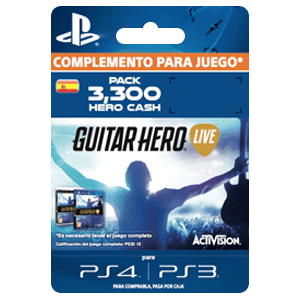 Guitar Hero Live 3300 Hero Cash Pack PS4-PS3