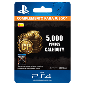 4,000 +1000 Bonus Call of Duty Points PS4