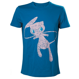 Camiseta Azul Pokemon: Mew Talla XL