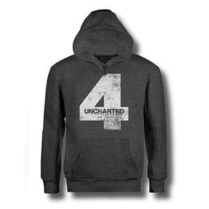 Sudadera Uncharted 4 Gris Four Talla XL