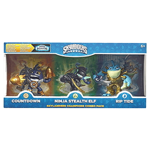 Classic Triple Skylanders Imaginators Pack 3: Countdown - Stealth Elf - Riptide
