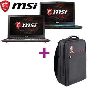 Portátil MSI + mochila GS backpack de regalo