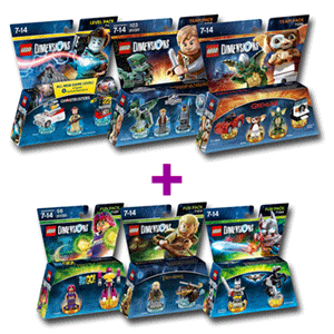 Lego Dimensions Team o Level Pack + Lego Dimensions Fun Pack de regalo