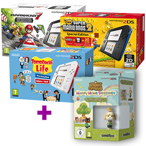Nintendo 2DS a elegir + Animal Crossing Happy Home Designer